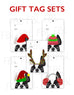 Festive Frenchies Gift Tag Set - French Bulldog Holiday Tags - French Bulldog Love - 13