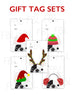 Festive Frenchies Gift Tag Set - French Bulldog Holiday Tags - French Bulldog Love - 14