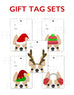 Festive Frenchies Gift Tag Set - French Bulldog Holiday Tags - French Bulldog Love - 16