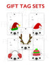 Festive Frenchies Gift Tag Set - French Bulldog Holiday Tags - French Bulldog Love - 18