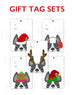 Festive Frenchies Gift Tag Set - French Bulldog Holiday Tags - French Bulldog Love - 19