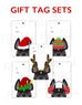 Festive Frenchies Gift Tag Set - French Bulldog Holiday Tags - French Bulldog Love - 3