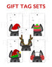 Festive Frenchies Gift Tag Set - French Bulldog Holiday Tags - French Bulldog Love - 5