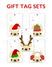Festive Frenchies Gift Tag Set - French Bulldog Holiday Tags - French Bulldog Love - 10