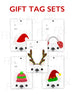 Festive Frenchies Gift Tag Set - French Bulldog Holiday Tags - French Bulldog Love - 17