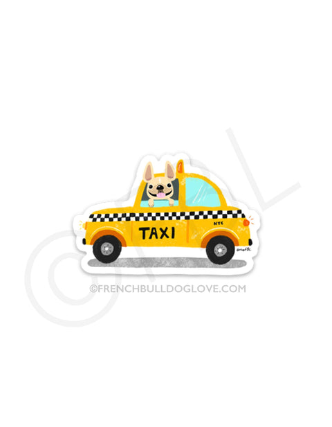 #100DAYPROJECT 35/100 - NYC TAXI! VINYL STICKER