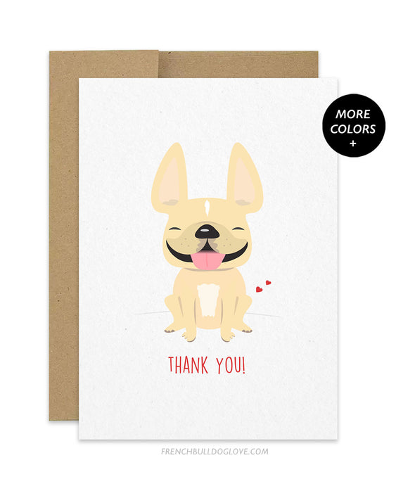 Thank You! French Bulldog Thank You Card