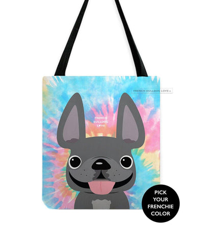 Tie Dye Tote Bag - Classic - by French Bulldog Love