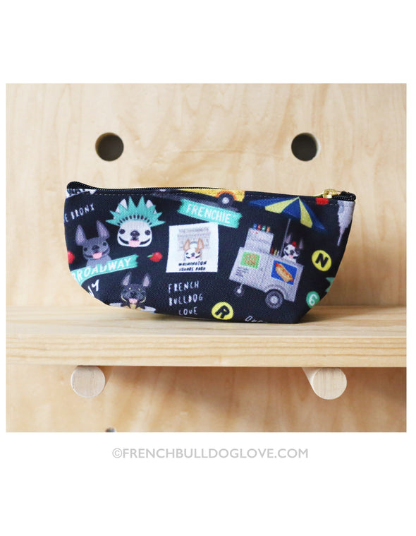 NYC Mini French Bulldog Pouch - Black