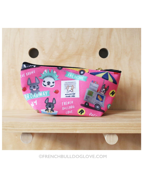 NYC Mini French Bulldog Pouch - Pink