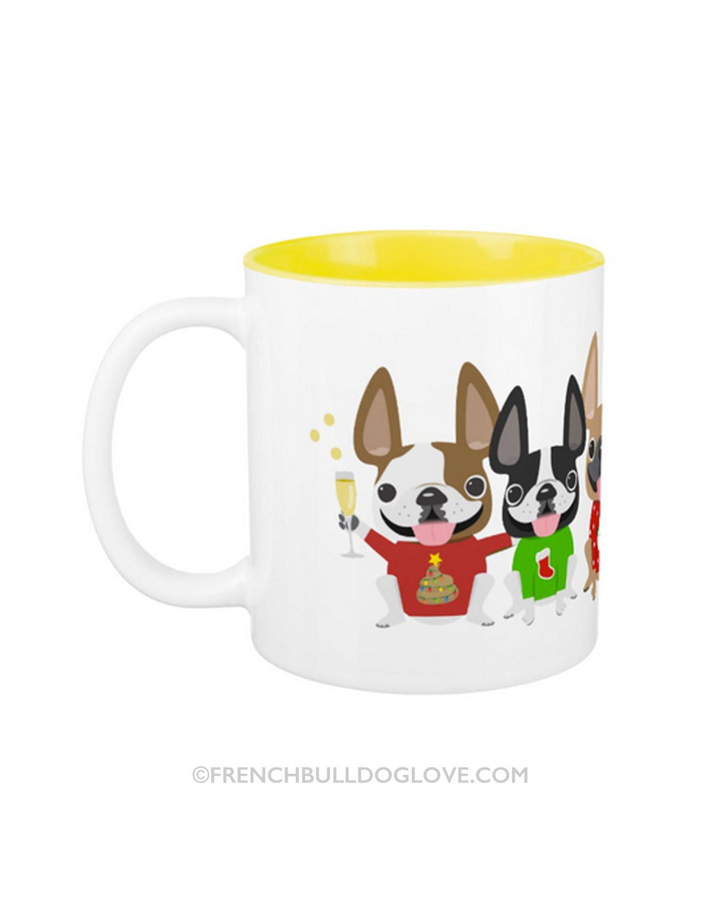 Ugly Sweater French Bulldog Coffee Mug 2 SIZES - French Bulldog Love - 4