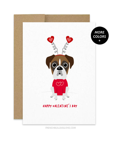 Valentine's Day Boxer Greeting Card
