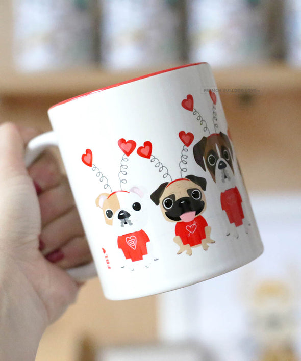 Puppy Love - French Bulldog & Friends Coffee Mug - 11oz