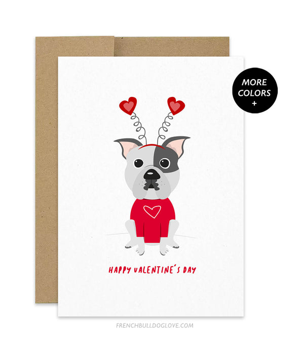 Valentine's Day Pit Bull Greeting Card