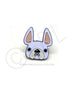 French Bulldog Enamel Pin - White Frenchie