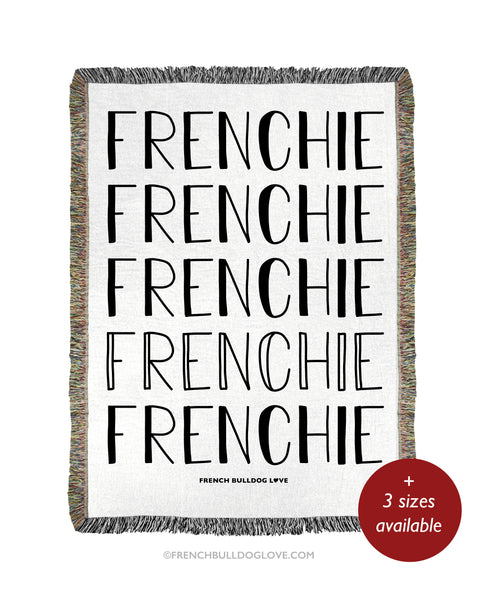 FRENCHIE Woven Blanket - Natural - 100% Cotton