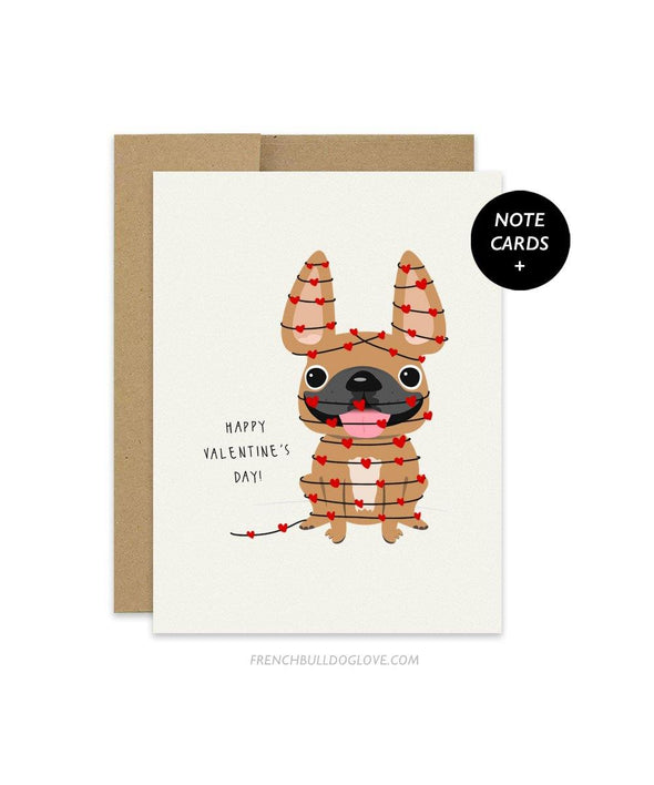 Wrapped in Love - French Bulldog Note Cards - Set of 12