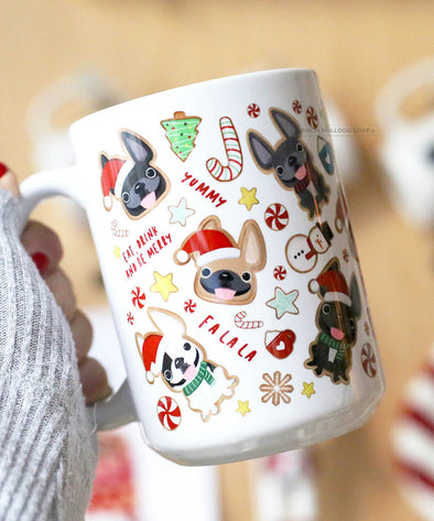 Xmas Cookies - French Bulldog Coffee Mug 15 oz
