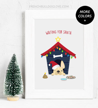 Waiting For Santa - Holiday Christmas Print 8x10
