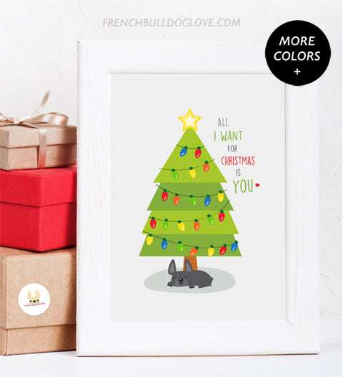 Holiday Print - Custom All I Want For Christmas is YOU 8x10