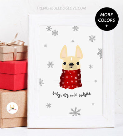 Holiday Print Baby It's Cold Outside - Custom Holiday Print 8x10