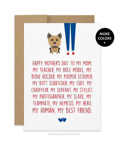 Mom Servant - Yorkie Mother's Day Card