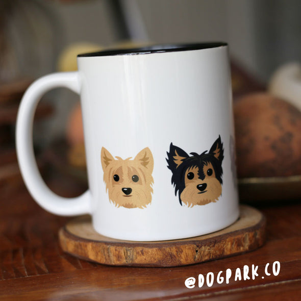 Five Little Yorkies - Yorkie Dog Coffee Mug