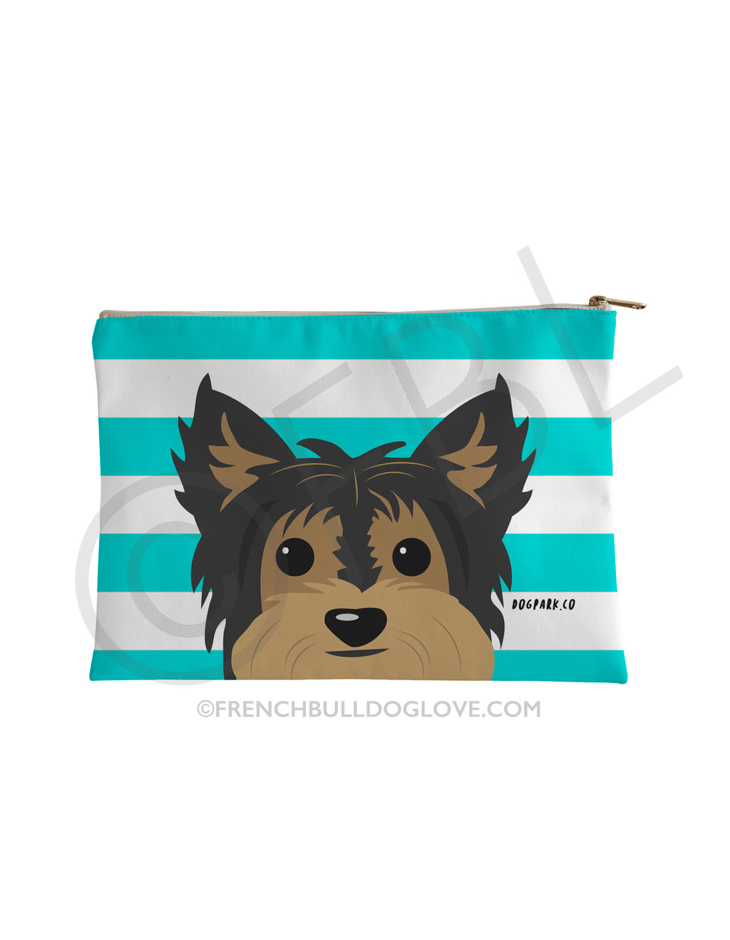 Classic Yorkie Pouch - Tan/Black - Small Accessory Pouch