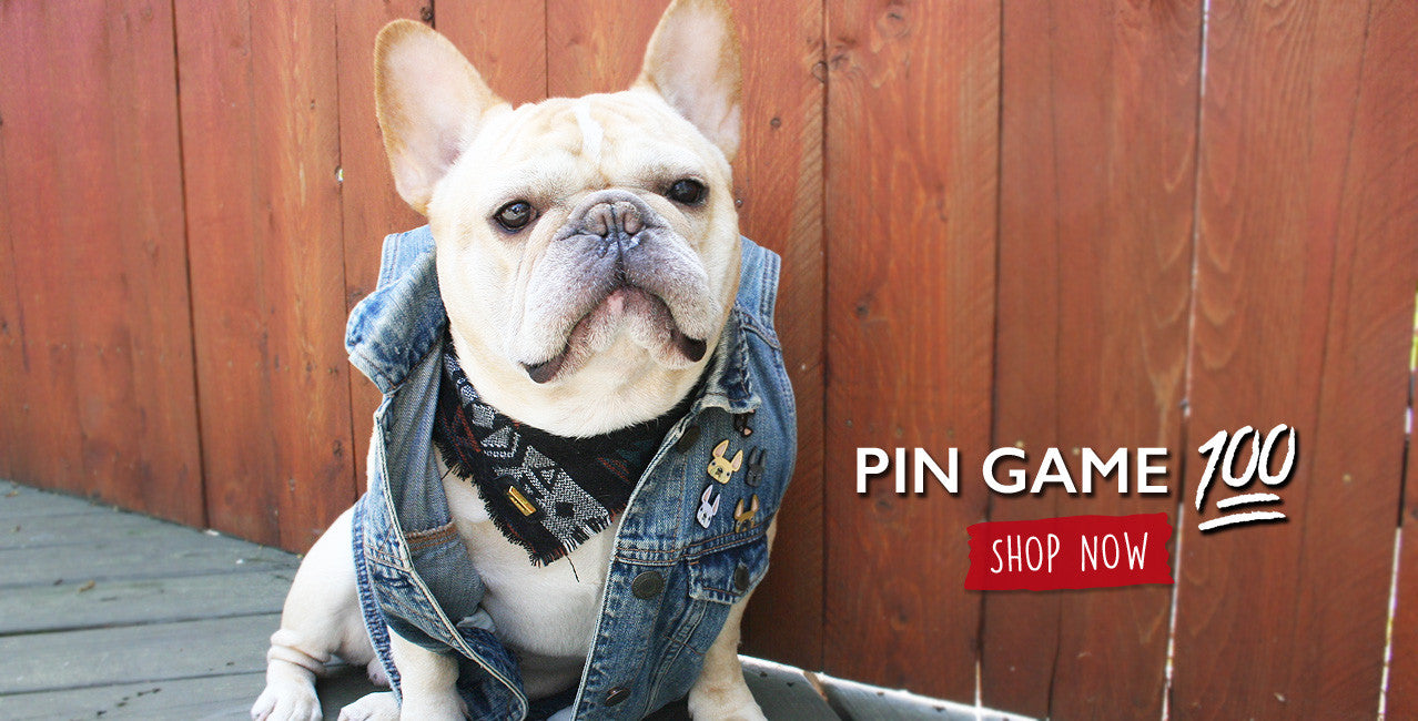 French Bulldog Enamel Pins by French Bulldog Love