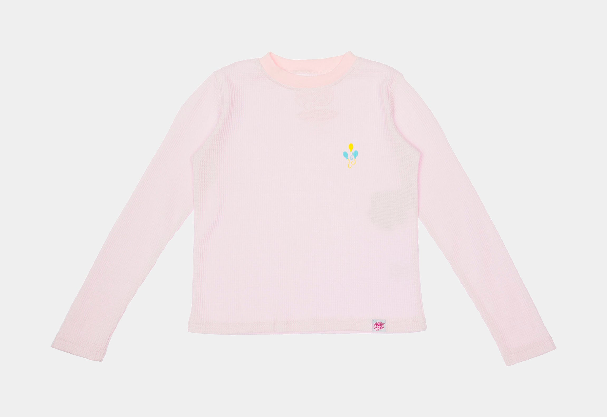 My Little Pony Pinkie Pie Long Sleeve Waffle Infant Toddler Knit T-Shirt (Pink)