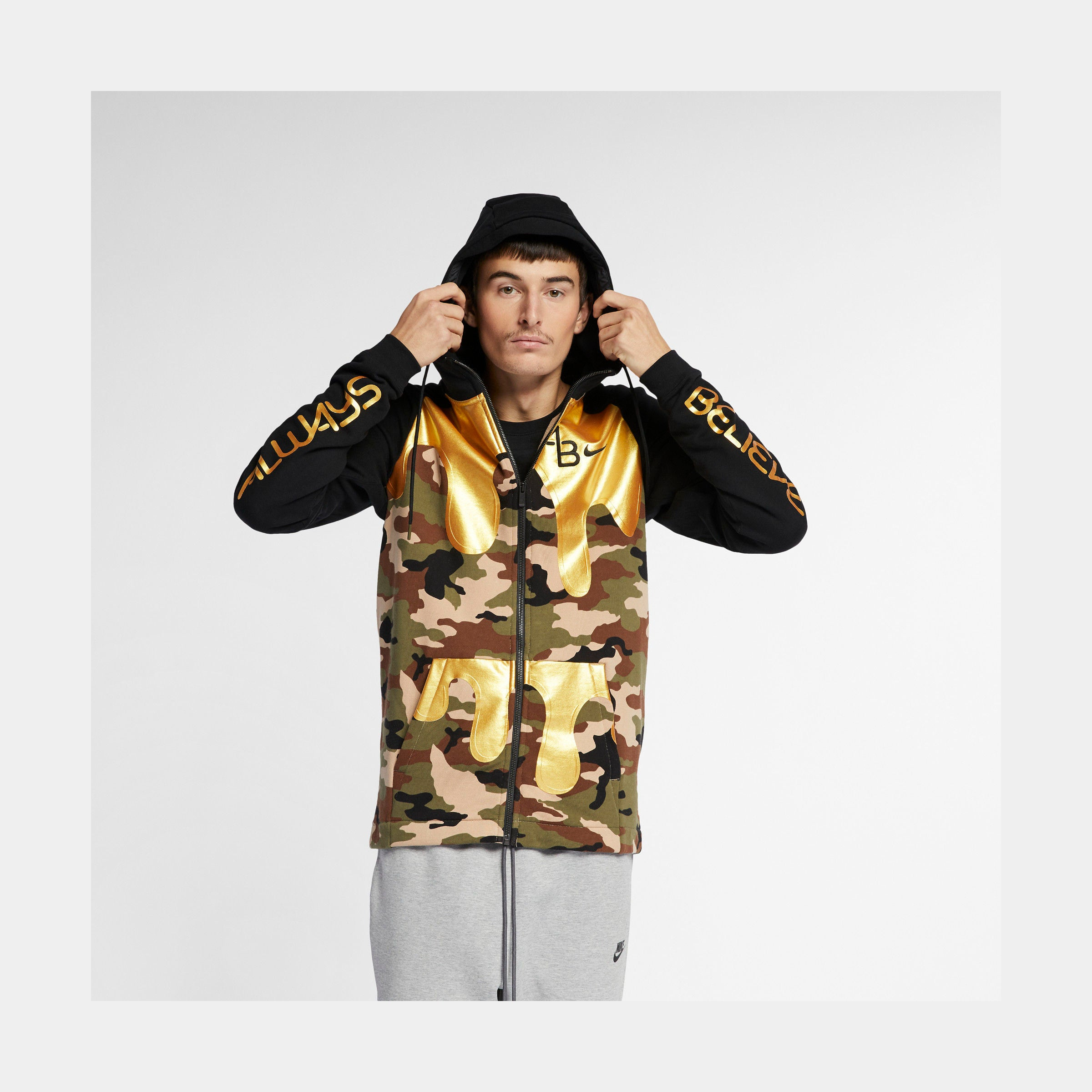Doernbecher Aiden Barber Mens Full Zip Hoodie (Black/Camo)