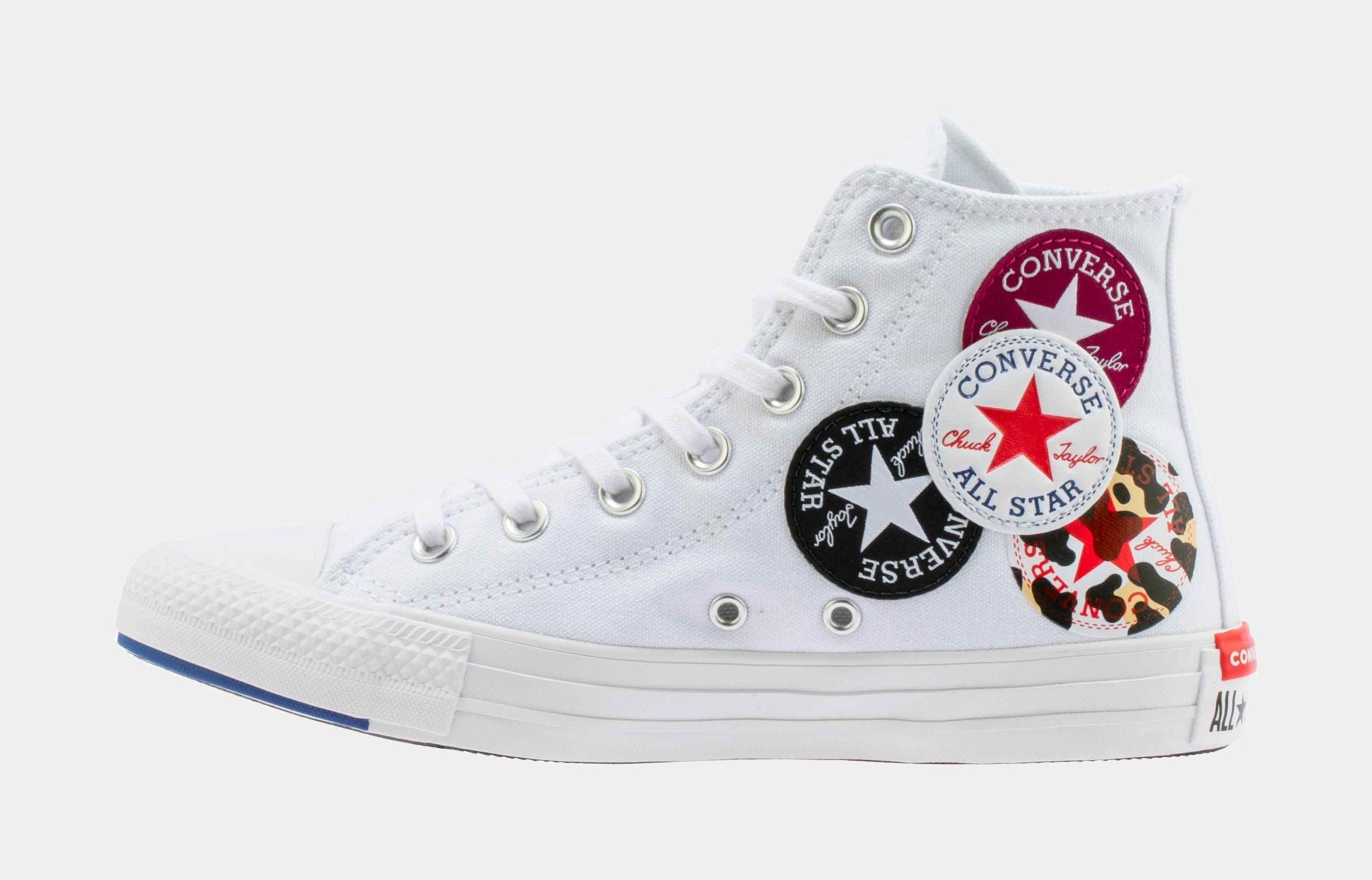Chuck Taylor All Star Twisted Classics HI Mens LIfestyle Shoe (White/Red/Blue)