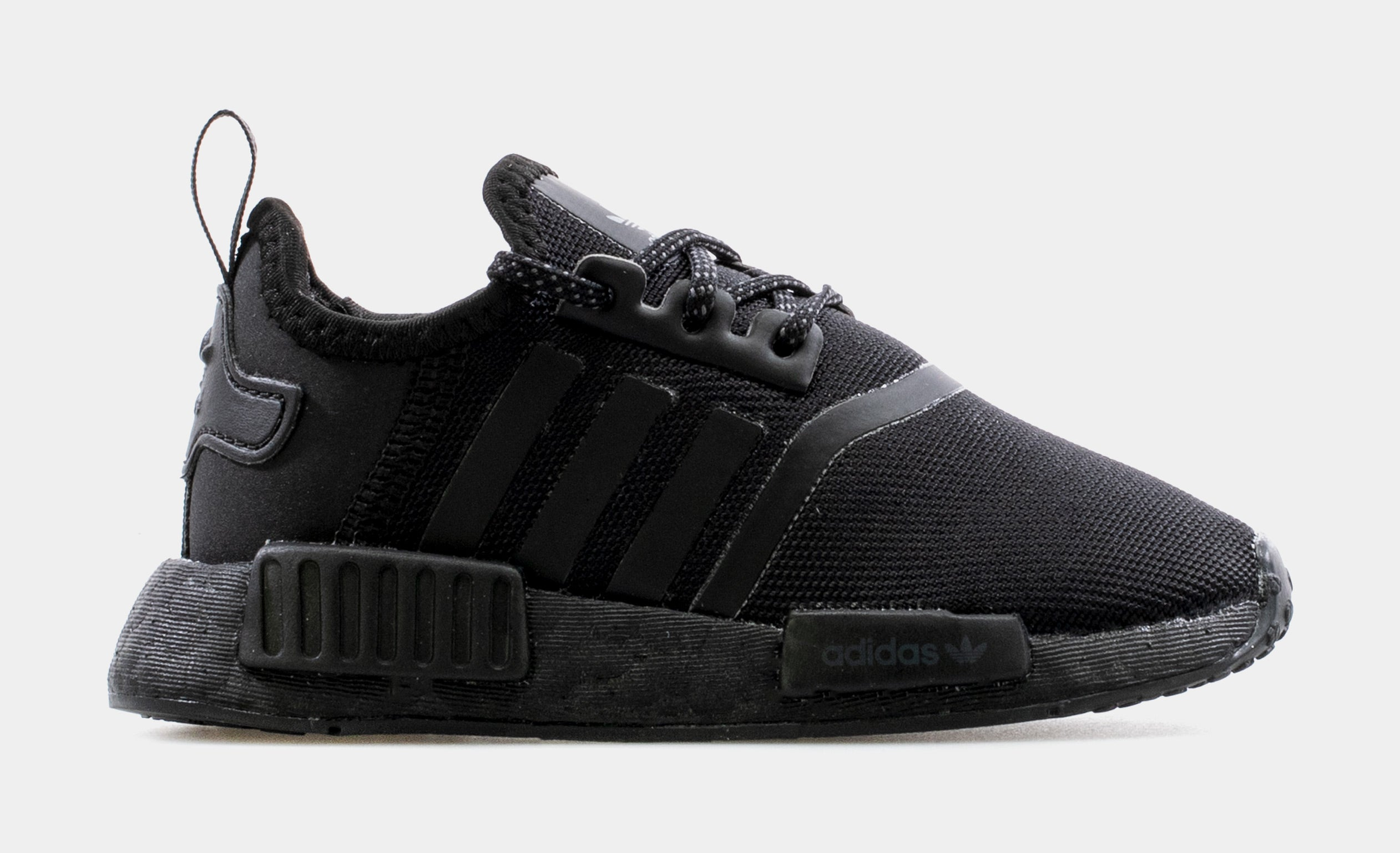 NMD R1 Infant Toddler Running Shoe (Black/Black)