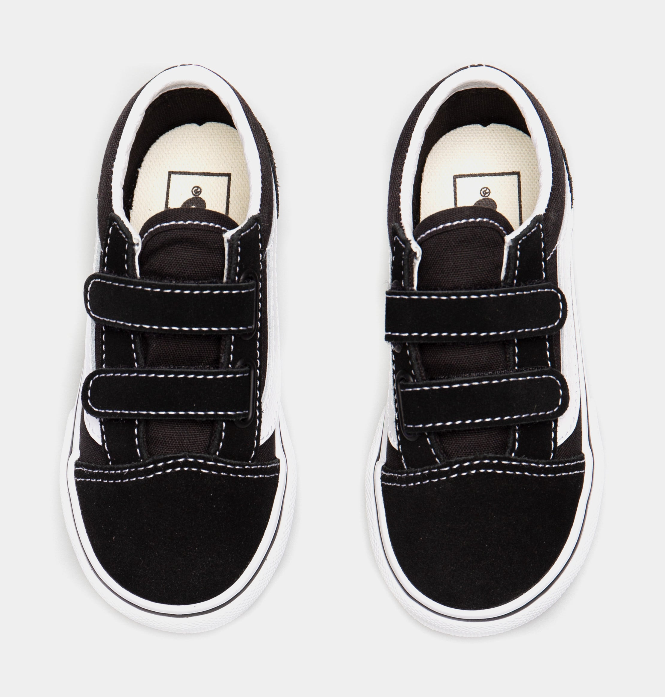 Old Skool V Low Infant Toddler Skateboarding Shoe (Black/White)