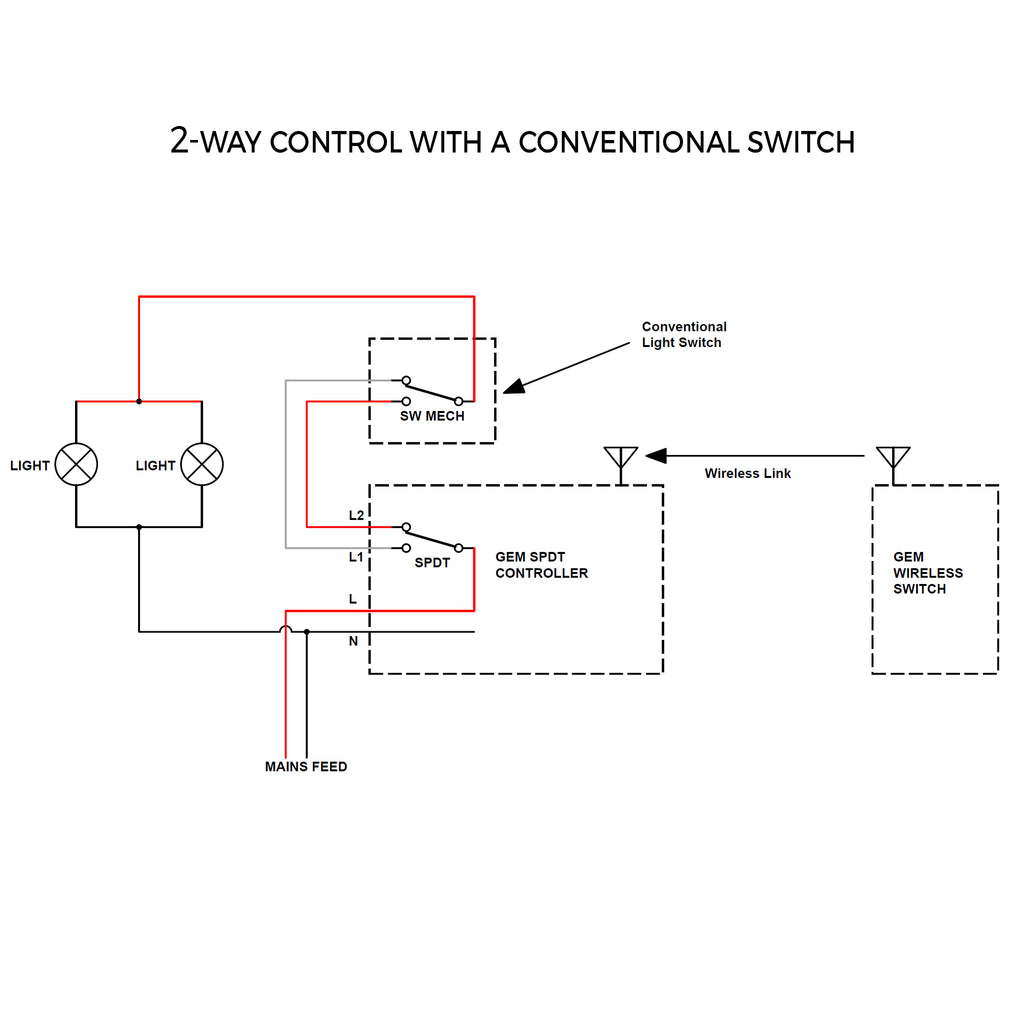 2-way light switch controller