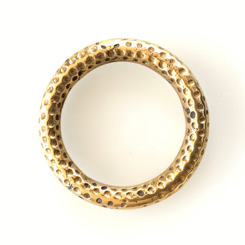 Hailstone Brass Bangle