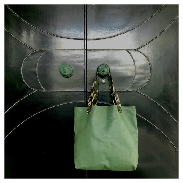 10.  Leather Tote