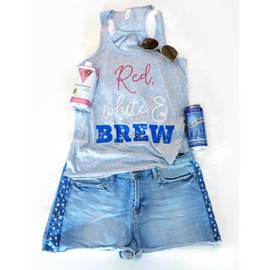 Red, White and Brew Tank - Little Hooligans Co.