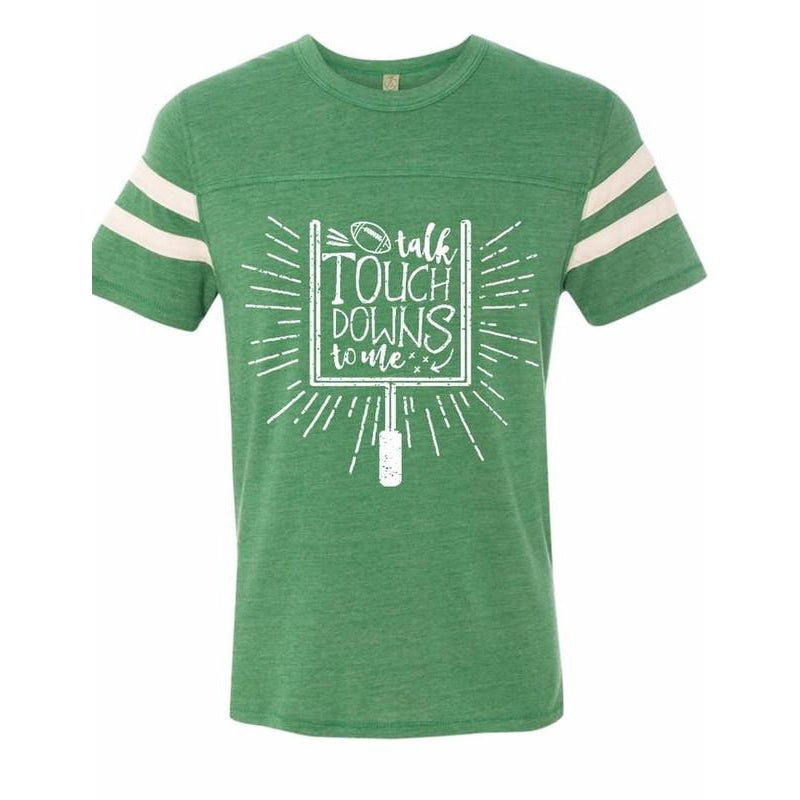 Talk Touchdowns To Me - Adult Tee-Little Hooligans Co.