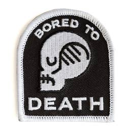 Bored To Death - Iron-on Patch-Little Hooligans Co.