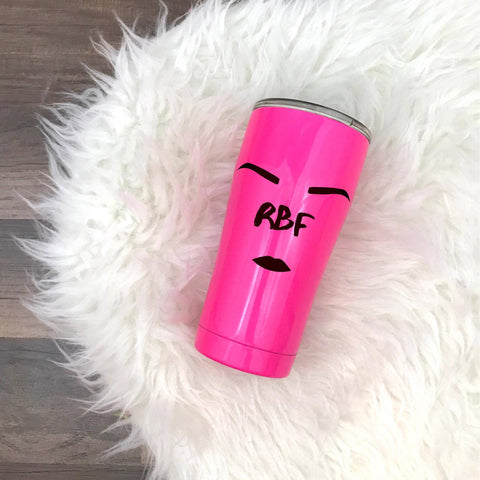 Hot Pink RBF - Stainless Steel Travel Tumbler-Little Hooligans Co.