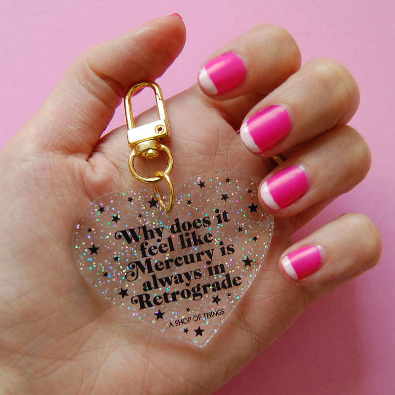 Retrograde Glitter Keychain-Little Hooligans Co.