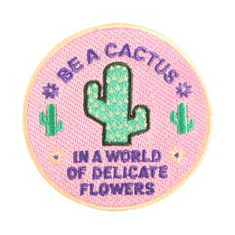 Be A Cactus - Iron-On Patch-Little Hooligans Co.