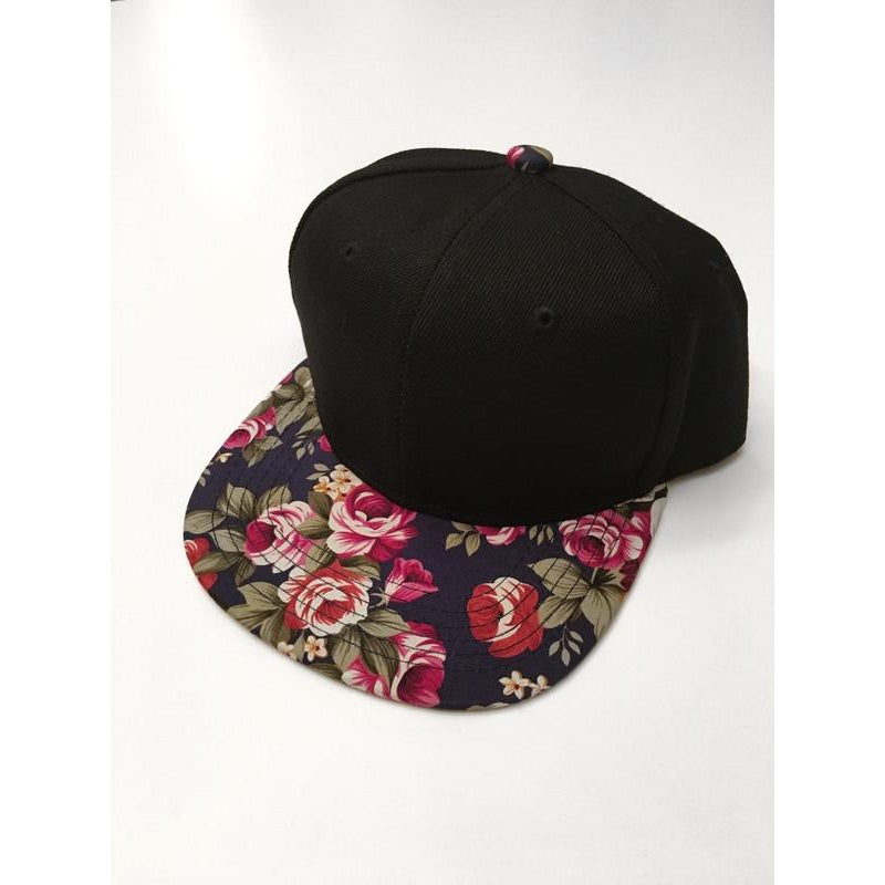 Navy Floral Snapback-Little Hooligans Co.