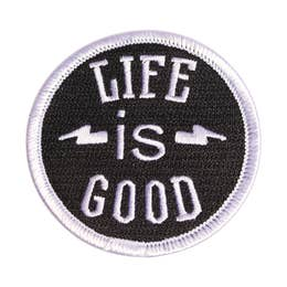 Life Is Good - Iron-On Patch-Little Hooligans Co.