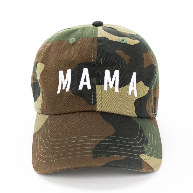 Mama - Camo Baseball Cap-Little Hooligans Co.
