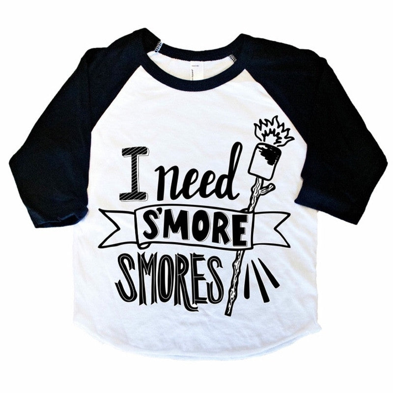 I Need S'more Smores - Raglan-Little Hooligans Co.