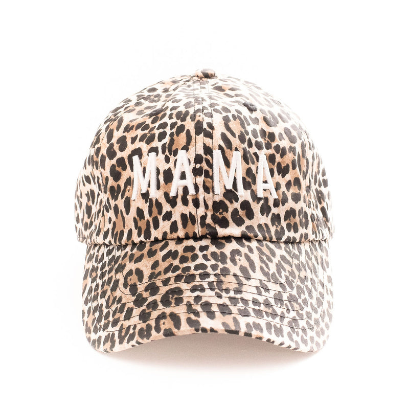 Mama - Cheetah Baseball Cap-Little Hooligans Co.