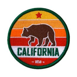 California (Sunset) - Iron-On Patch-Little Hooligans Co.