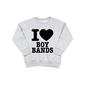 I Heart Boy Bands - Pullover-Little Hooligans Co.